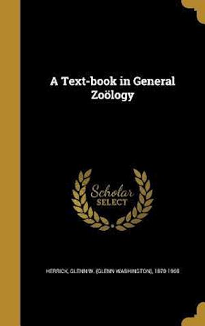 Bog, hardback A Text-Book in General Zoology