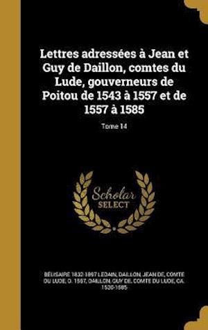 Bog, hardback Lettres Adressees a Jean Et Guy de Daillon, Comtes Du Lude, Gouverneurs de Poitou de 1543 a 1557 Et de 1557 a 1585; Tome 14 af Belisaire 1832-1897 Ledain