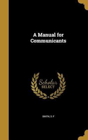 Bog, hardback A Manual for Communicants