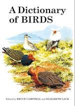 Dictionary of Birds (Poyser Monographs)