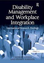 Disability Management and Workplace Integration af Thomas Geisen, Henry G Harder