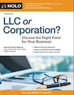 Llc or Corporation? (LLC OR CORPORATION?)