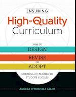 Ensuring High-Quality Curriculum