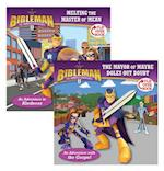 Melting the Master of Mean / The Mayor of Maybe Doles Out Doubt, Flip-Over Book (Bibleman)