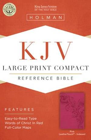 Ukendt format KJV Large Print Compact Reference Bible, Pink Leathertouch, Indexed