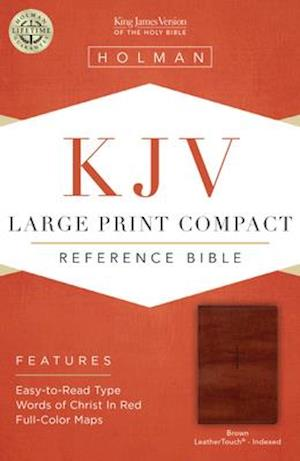 Ukendt format KJV Large Print Compact Reference Bible, Brown Cross Leathertouch, Indexed