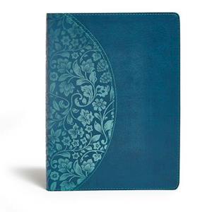 Ukendt format KJV Study Bible Large Print Edition, Dark Teal Leathertouch