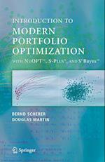 Modern Portfolio Optimization with NuOPT, S-PLUS, and S+Bayes af R Douglas Martin, Bernd Scherer