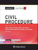 Civil Procedure Keyed to Subrin, Minow, Brodin, Main, and Lahav (Casenote Legal Briefs)