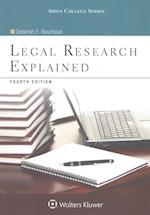 Legal Research Explained (Aspen College)