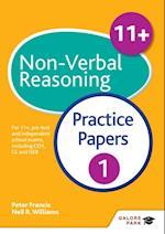 11+ Non-Verbal Reasoning Practice Papers 1 (GP)