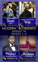 Modern Romance August 2016 Books 1-4 af Maisey Yates, Miranda Lee, Melanie Milburne