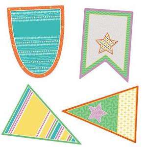 Bog, hardback Up and Away Pennants Cut-Outs