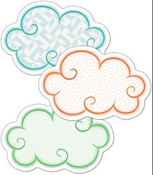 Bog, hardback Up and Away Clouds Mini Cut-Outs