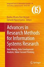 Advances in Research Methods for Information Systems Research (Integrated Series in Information Systems, nr. 34)