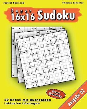 16x16 Super-Sudoku Mit Buchstaben 02 af Thomas Schreier
