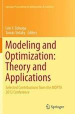 Modeling and Optimization (Springer Proceedings in Mathematics & Statistics, nr. 84)