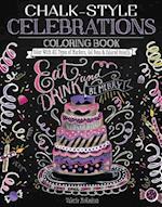 Chalk-Style Celebrations Coloring Book (Chalk Style)