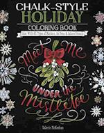 Chalk-Style Holiday Coloring Book (Chalk Style)