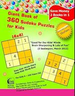 Giant Book of 360 Sudoku Puzzles for Kids ( 4x4 Puzzles ) af Husam Network