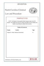 North Carolina Criminal Law and Procedure-Pamphlet 16