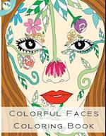 Colorful Faces Coloring Book