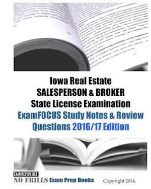 Bog, paperback Iowa Real Estate Salesperson & Broker State License Examination af Examreview.net