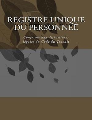 Bog, paperback Registre Unique Du Personnel af G. C