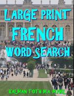 Large Print French Word Search