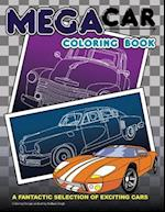 Mega Car Coloring Book
