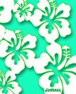 Journal (White Hibiscus Hawaii Flower Aqua Edition)