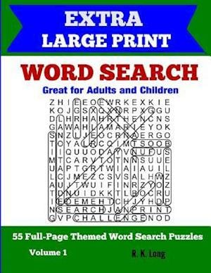 Extra Large Print Word Search af R. K. Long