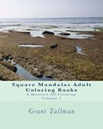 Square Mandalas Adult Coloring Books