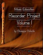 Music Education Recorder Project Vol 1 Book