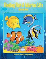 Finding Fish & Marine Life Coloring Book