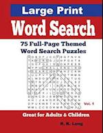 Large Print Word Search, Volume 1