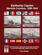 Battleship Captain Warship Counters, 1890-1945