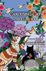 Carousing Cats - A Cat Lover's Pocket Size Colouring Book