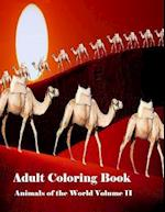 Adult Coloring Book Animals of the World Volume II