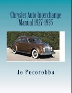Chrysler Auto Interchange Manual 1927-1935