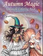 Autumn Magic Grayscale Coloring Book