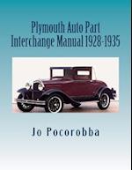 Plymouth Auto Part Interchange Manual 1928-1935