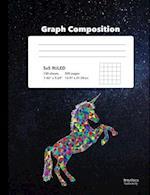 Unicorn Themed Squared Graph Paper Composition Book 5x5