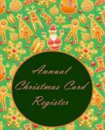 Annual Christmas Card Register