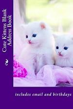 Cute Kittens Blank Address Book