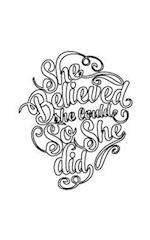 She Believed She Could So She Did, Journal (Notebook, Diary) (Small Journal Series)