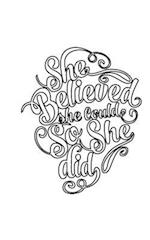 She Believed She Could So She Did, Journal (Notebook, Diary),64p