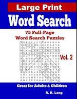 Large Print Word Search, Volume 2