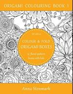 Colour & Fold Origami Boxes - 15 Floral-Pattern Boxes with Lids