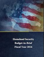 Homeland Security - Budget in Brief